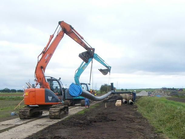 北海道農水埋設配管工事A1 © MESCO 三井金属エンジニアリング株式会社