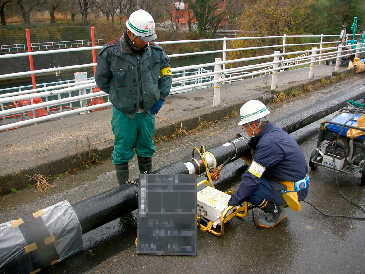 福島県温泉埋設配管工事2 © MESCO 三井金属エンジニアリング株式会社