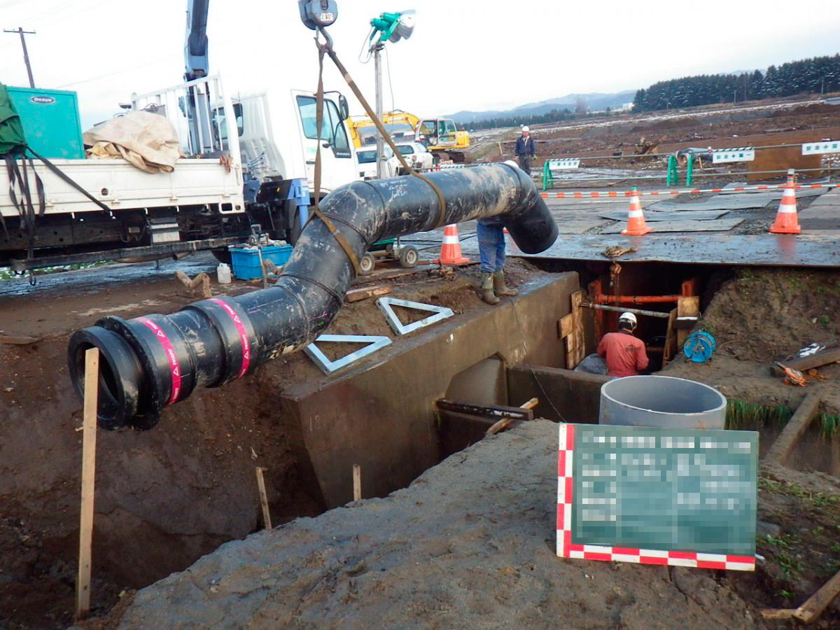 北海道農水パイプインパイプ配管工事2 © MESCO 三井金属エンジニアリング株式会社