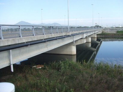 熊本県上水橋梁添架配管工事1