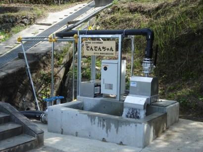 愛知県小水力露出配管工事1