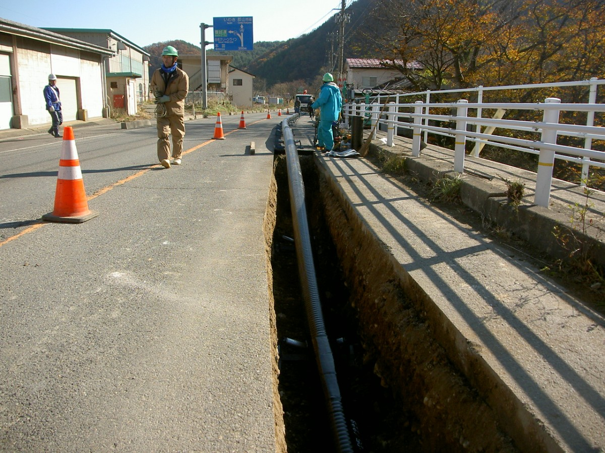 福島県温泉埋設配管工事1 © MESCO 三井金属エンジニアリング株式会社
