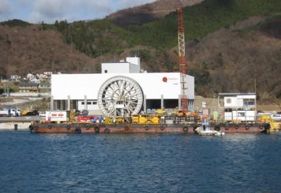 宮城県海底送水配管工事1