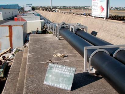 茨城県海水取水露出配管工事1