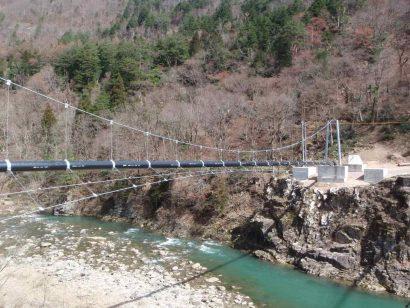 白川村大郷用水路水管橋