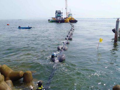 南知多町海底送水管工事
