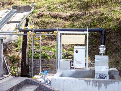新城市小水力発電配管
